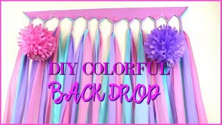 Colorful DIY Backdrop