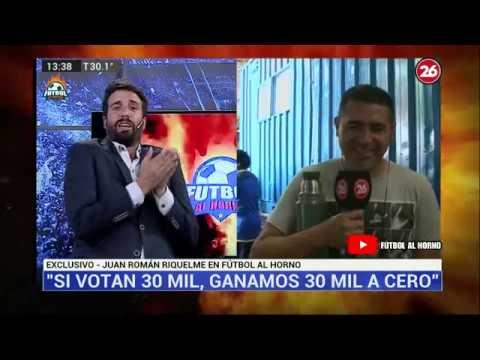"""Canal 26 - Mano A Mano: Riquelme Con Flavio Azzaro En """"Fútbol Al Horno"""""""