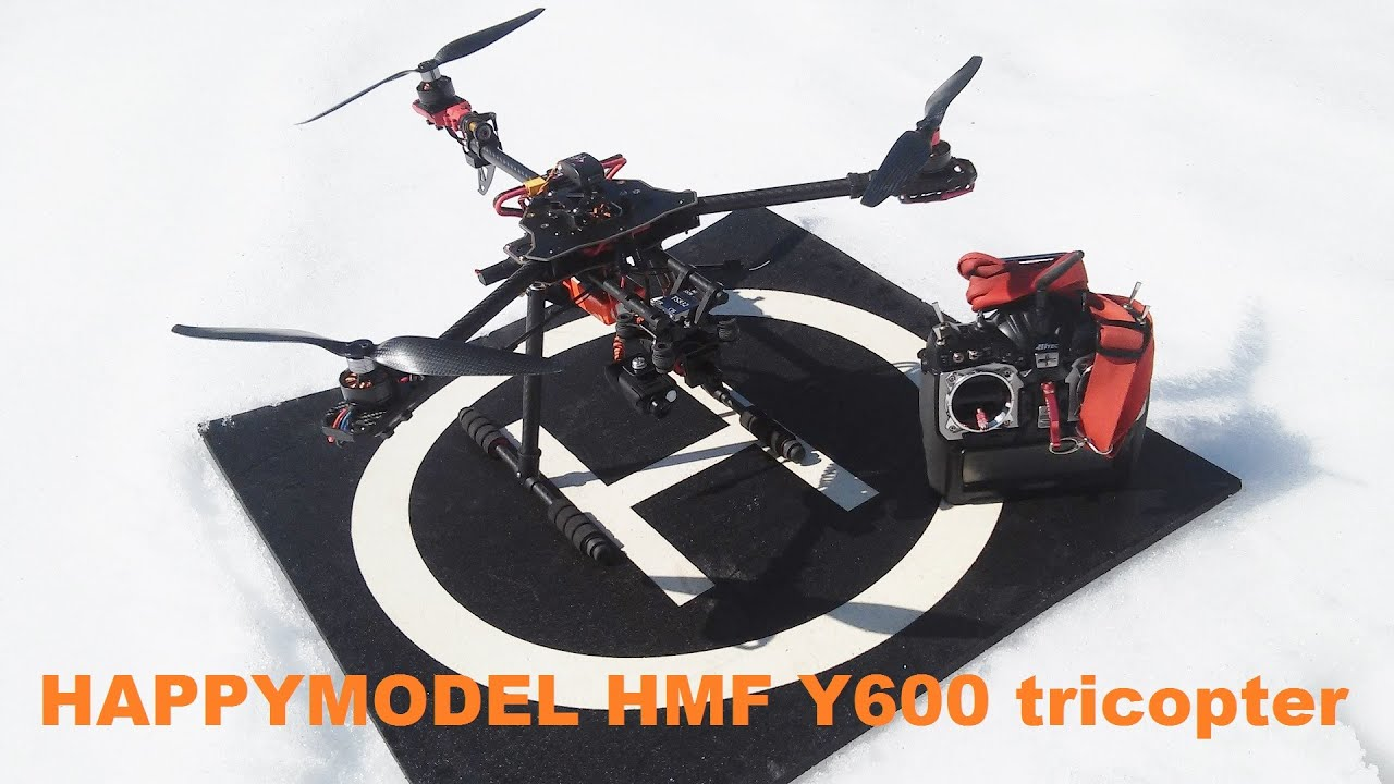Happymodel HMF Y600 tricopter with Eagle Tree Vector introduction ...