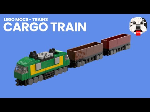 Lego Mocs Mini Lego Cargo Train Video Instructions Youtube