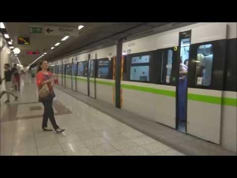 Riding the Hyundai Rotem-Siemens 3rd generation train in Athens metro