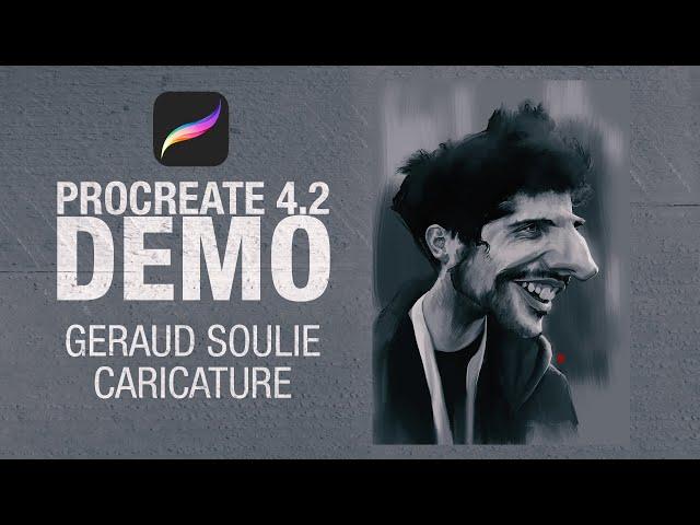 Geraud Soulie Caricature on procreate 4.2