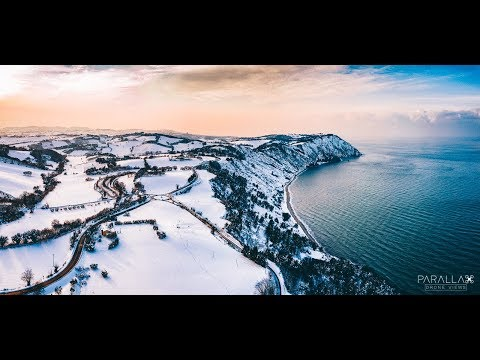 Snow covered Conero by Parallax Drone Views