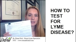 Dr. Frid - How To Test For Lyme?