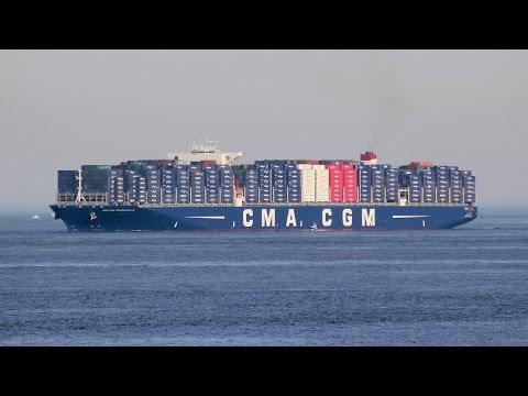 CMA-CGM Bougainville docking in Port of Algeciras