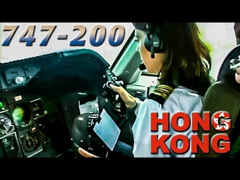 Paola Pilots the BOEING 747 out of Hong Kong