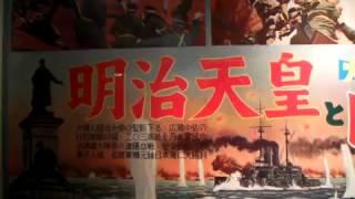 10年前の懐かしの映画展 明治天皇と日露大戦争の展示風景.