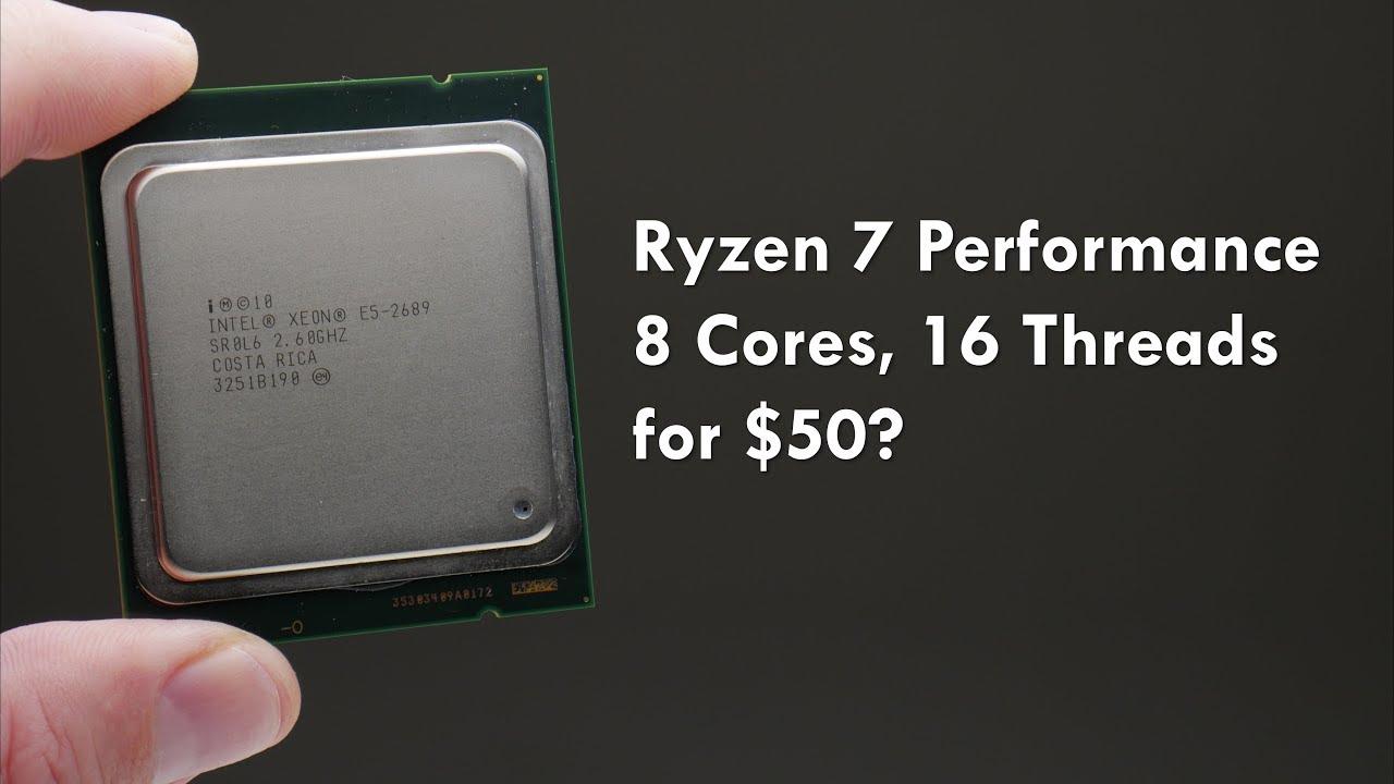Ryzen 7 Performance for $50? Cheap 8 Core 16 Thread CPU!