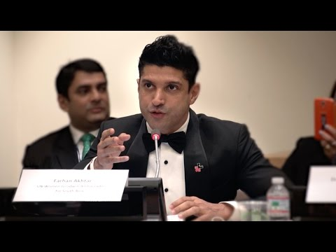 "Farhan Akhtar speaks and performs at UN: ""End violence against women"""