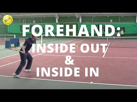 Tennis Tip: Inside Out Forehands And Inside In Forehands
