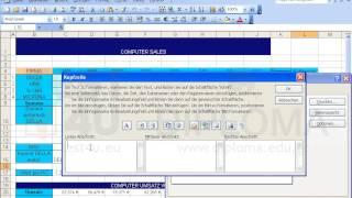 Geben Sie den Text Computerverkauf (ohne Formatierung) im linken Teil der Kopfzeile des...