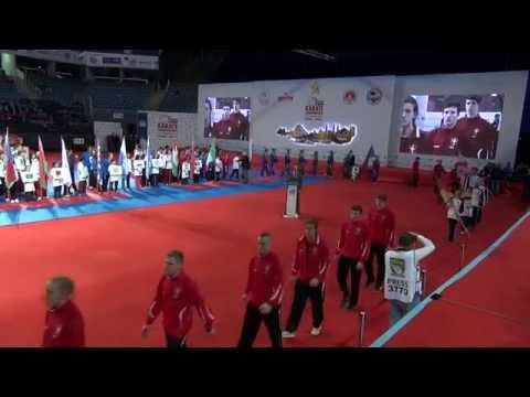 İstanbul. 50th European Karate Championships. Opening ceremony part 1