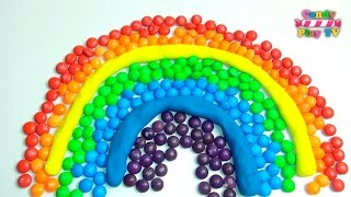 Learn Colors with Play Doh M&M's Rainbow - Kids Rainbow Learning & Learn Colours with M&M's Skittles