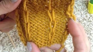 Простые узоры спицами. Ажурные узоры спицами. Вязание спицами. Вязание для начинающих.