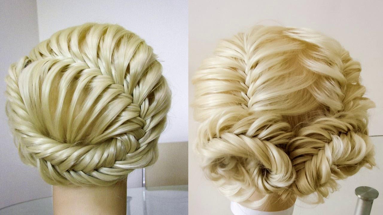 Красивые причёски из косы Рыбий хвост Плетения на праздник и каждый день Peinados de trenza