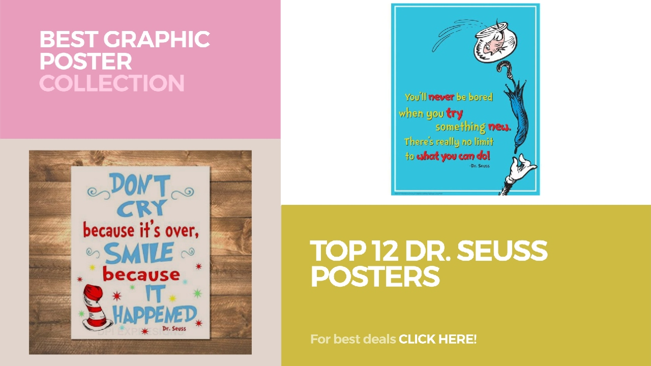 Top 12 Dr. Seuss Posters // Best Graphic Poster Collection - YouTube