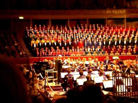 Joe McHugh sings at the Royal Albert Hall