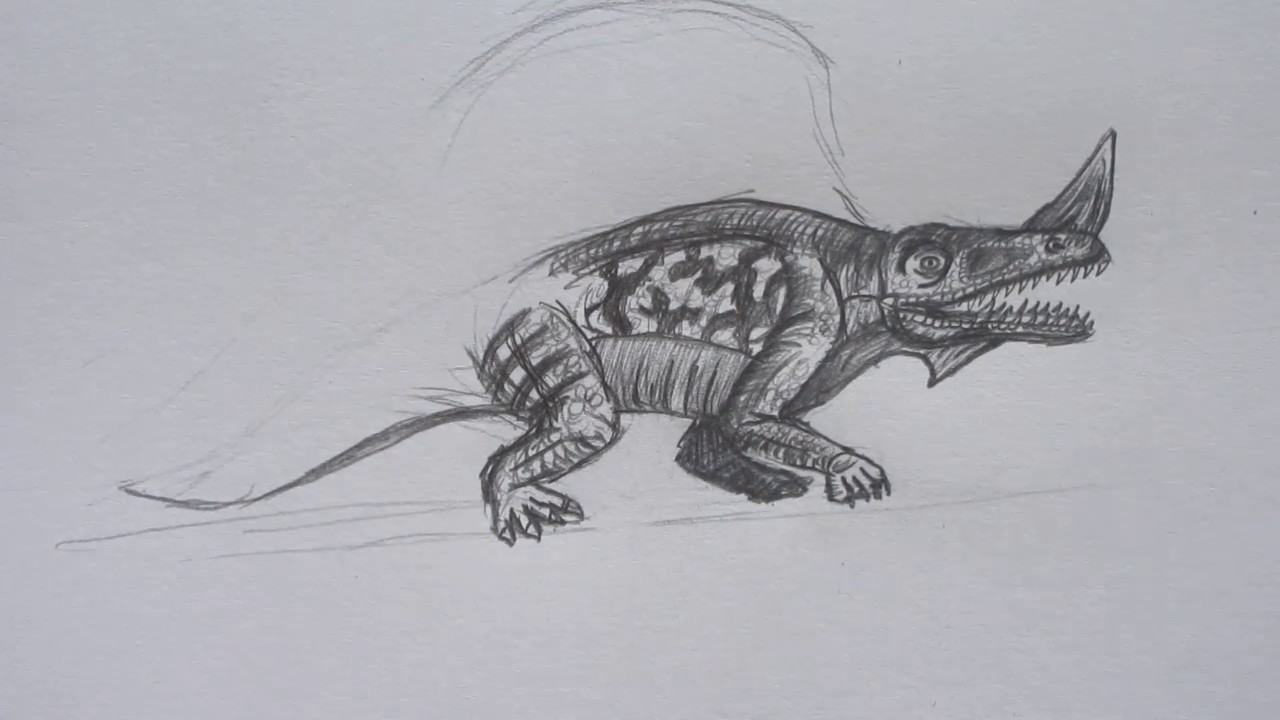 How to Draw Priotrodon from Jurassic World the Game