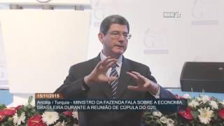 Ministro Joaquim Levy fala sobre situação econômica do Brasil em viagem à Turquia