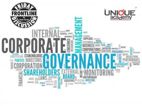 Corporate Governance In India -  Frontline Discussion For UPSC/MPSC Students