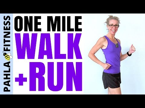 20 Minute One MILE Indoor WALK + RUN Workout | You Don't Have to Eat HEALTHY FOOD to LOSE WEIGHT