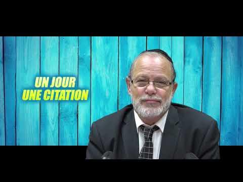 UN JOUR UNE CITATION 2 - L'essentiel de la vie de l'homme est de briser ses mauvaises midoth