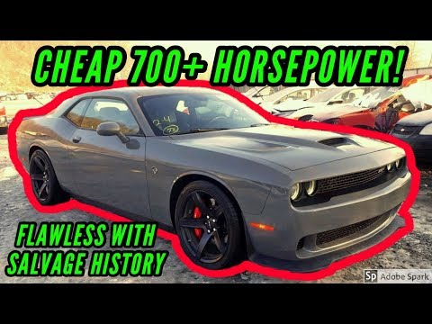 Copart Cheap Dodge Hellcat and Camaro SS with No Damage sell at Salvage Auction goonzquad