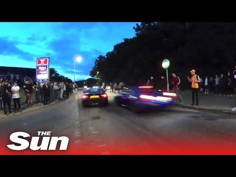 Stevenage Car Meet Crash: Moment 'street Race' Event Goes Wrong