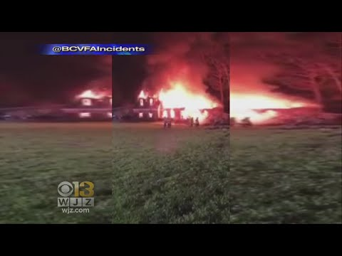 Overnight Fire Destroys Baltimore County Home