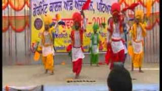 Khalsa college patiala bhangra at youth fest with ustad chuch mahi