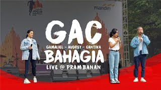 GAC (Gamaliel Audrey Cantika) - Bahagia Live @ Mandiri Jogja Marathon 2018 Prambanan
