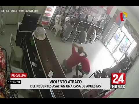 Pucallpa: delincuentes armados asaltan local de apuestas deportivas