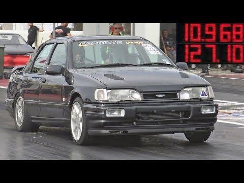 600HP+ Ford Sierra Sapphire Cosworth at Hal Far Raceway