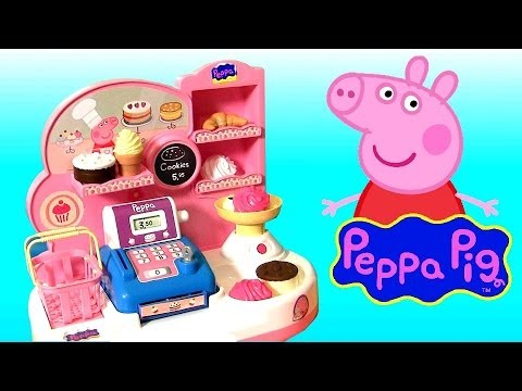 Peppa Pig Bakery Shop Playset Play Doh Pastelería Pasticceria Disney Frozen Dolls Princess Anna Elsa Travel Video