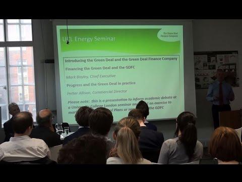 UCL Energy Seminar: 'Financing Home Energy Efficiency'