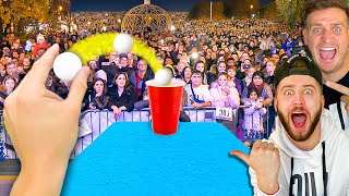 THE MOST EPIC BEER PONG SHOT ON THE PLANET.