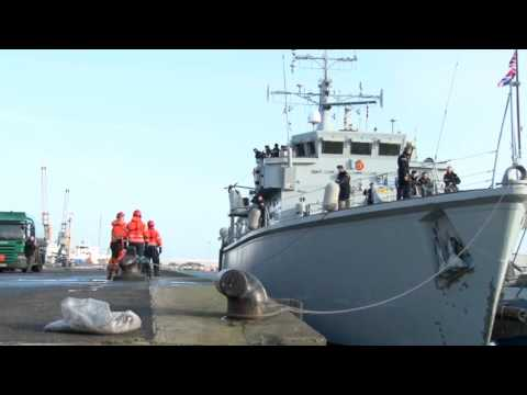 HMS Quorn visits Belfast for the first time