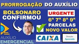 Bolsonaro CONFIRMOU a Prorrogação do Auxílio Emergencial Até Dezembro! Novos Valores!