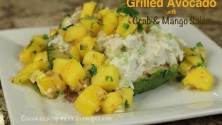 Grilled Avocado With Crab & Mango Salsa
