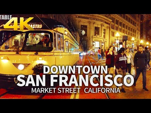 SAN FRANCISCO - Market Street Walk In Downtown San Francisco, California, USA, Travel, 4K UHD
