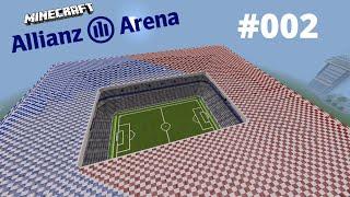 Minecraft Wir bauen die Allianz Arena #002*[HD] Trainerbank und Werbebanner