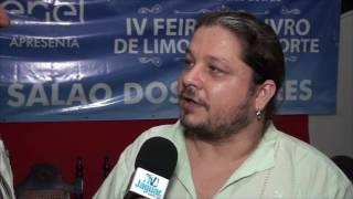 Alan Mendonça apresentou um Livro sobre pesquisa aquáticas na IV Feira do Livro