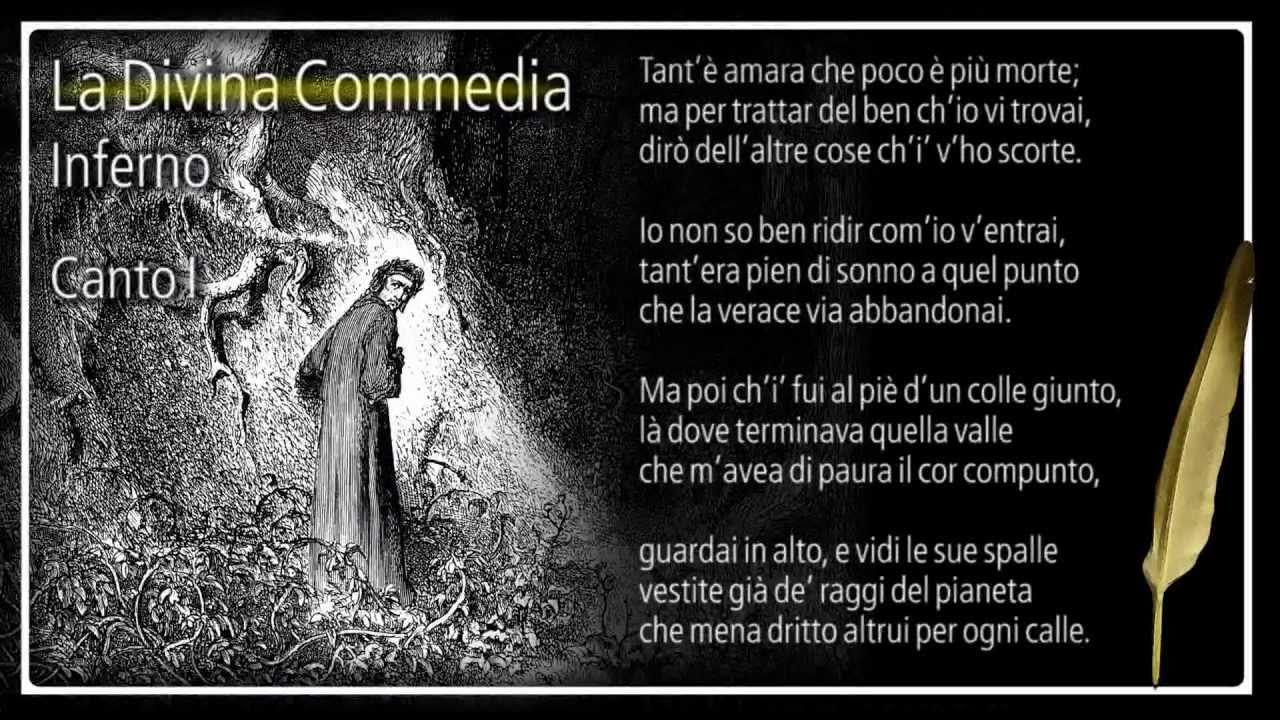 La Divina Commedia Inferno Canto I Youtube