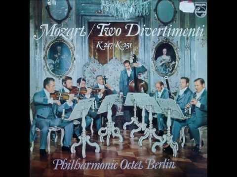 Mozart: Divertimento in D major K. 251 (Berlin Philharmonic Octet - 1969 vinyl LP)