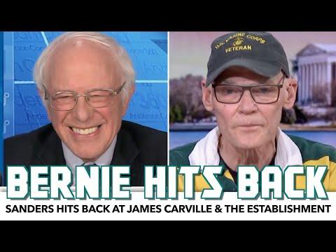 Bernie Hits Back At James Carville & The Establishment