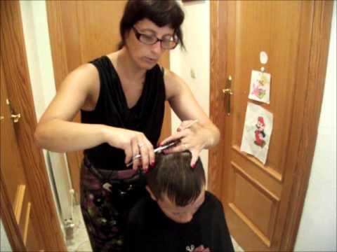 Corte de cabello de caballero degrafilado entresacado - Cortar el pelo en casa hombre ...