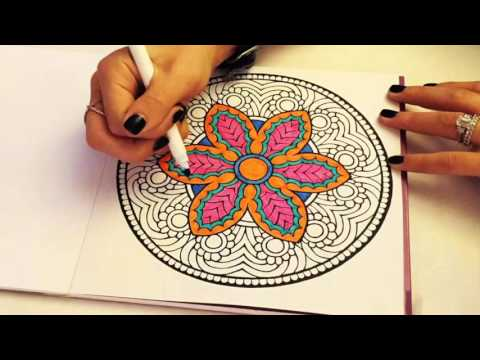 Color With Music Adult Coloring Book Mandala Time Lapse 2