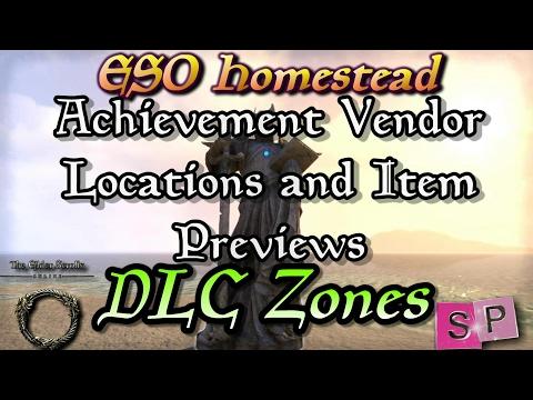 ESO: Achievement Furniture Vendors - DLC Zones