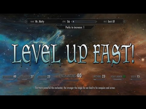 Skyrim Special Edition - HOW TO LEVEL UP INCREDIBLY FAST!