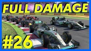F1 2016 Career Mode : SURVIVE FULL DAMAGE?!? (Part 26)